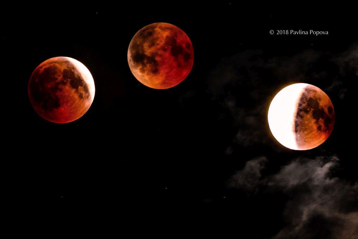 Най-дългото лунно затъмнение през XXI век, 27 юли 2018. Фотограф: Павлина Попова