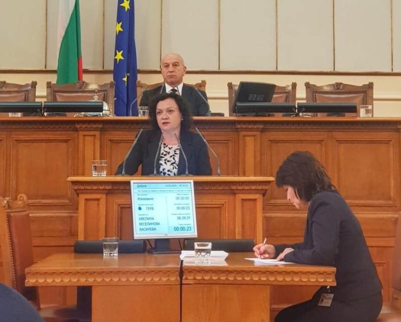 Ивелина Василева в НС: Новозавършилите лекари ще могат да градят академична кариера в Бургас