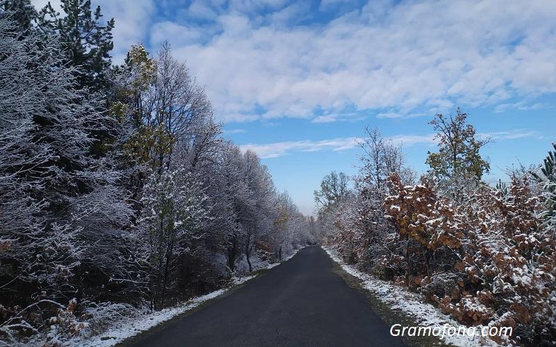 Силен вятър и слаб сняг по пътищата в Бургаско