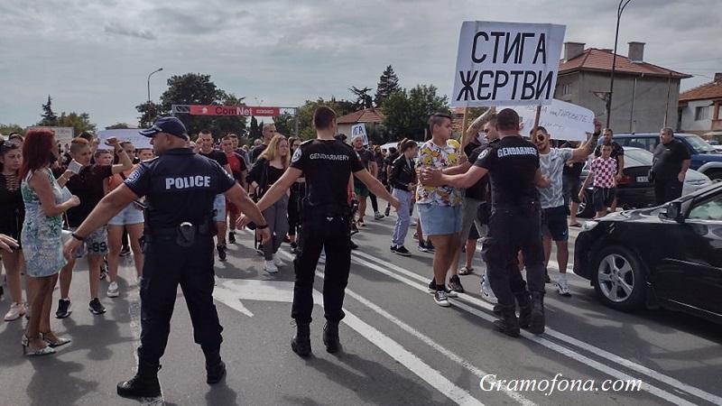 Братът на Нури разтърси протеста в Айтос (ВИДЕО)