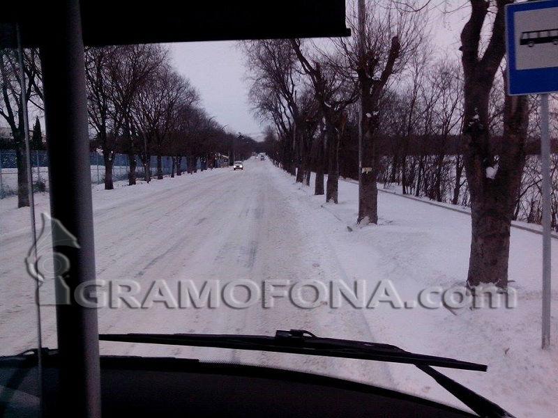 Обилен снеговалеж в Руенско
