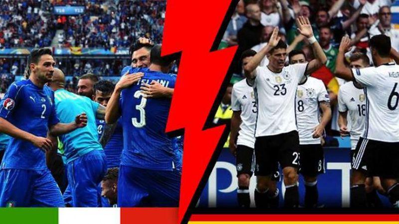 Германия и Италия в двубой за четвърфинала