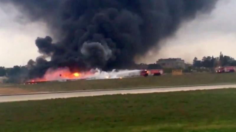 Самолет се разби в Малта, има загинали