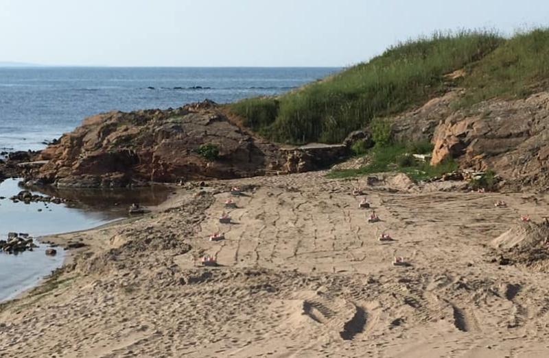 Концесионер полага бетон на плаж в Ахтопол, РДНСК проверява