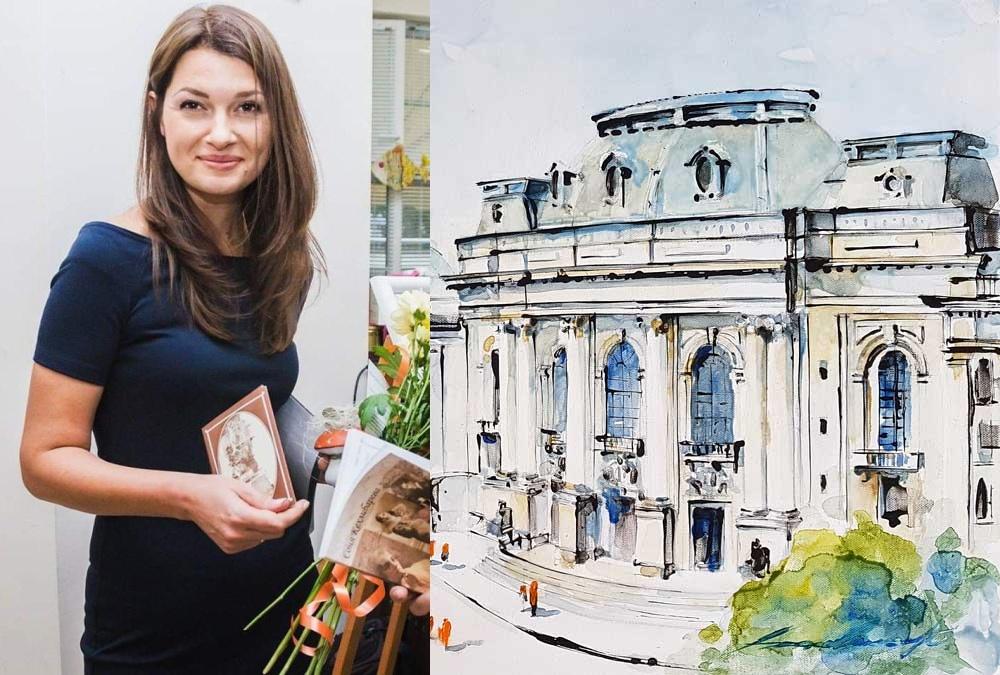 Украинка показва на софиянци картини на емблематични сгради в Бургас