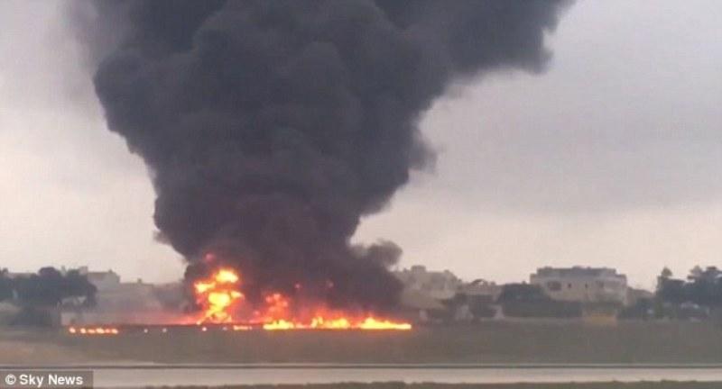 Самолетната катастрофа в  Малта в снимки