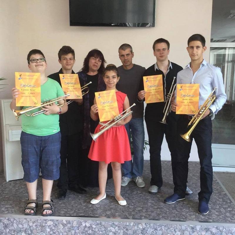 Пет награди за бургаски тромпетисти