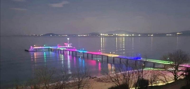 Моста в Бургас грейна с нови цветове