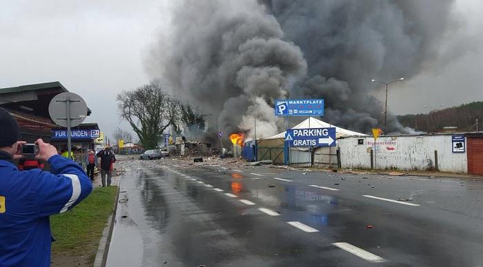 Експлозия на немско-полската граница
