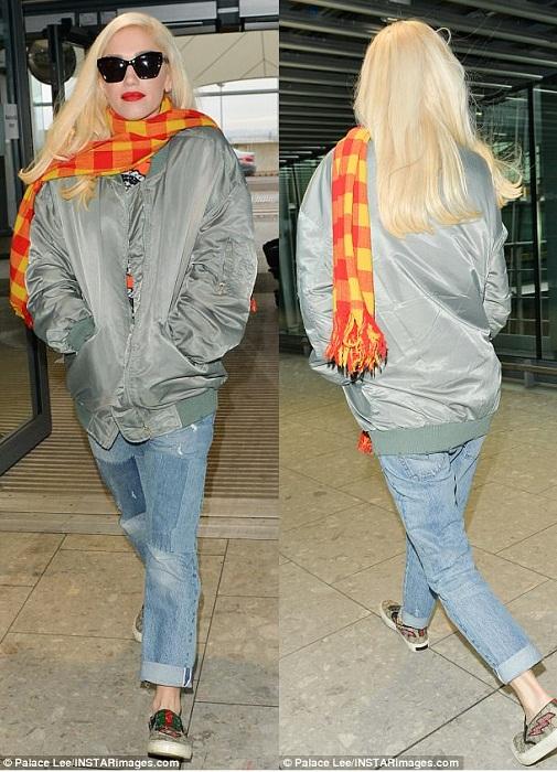 Пътуване със стил! Гуен Стефани на летището в Лондон