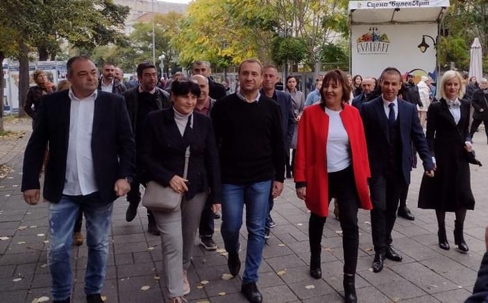 Мая Манолова в Бургас: След изборите ще има правителство на промяната
