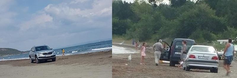 Летовници превърнаха плажа на Вромос в паркинг
