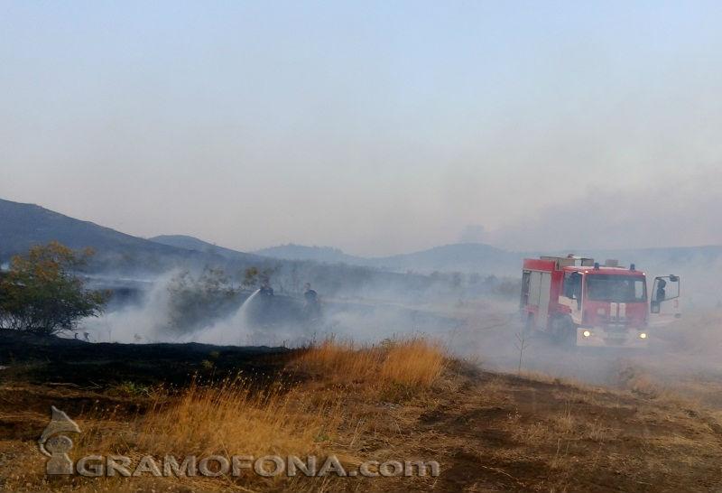 Пожар на Каптажа, огънят тръгнал от запалени боклуци