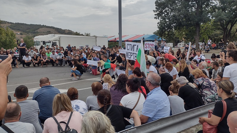 Протестът в Айтос в снимки