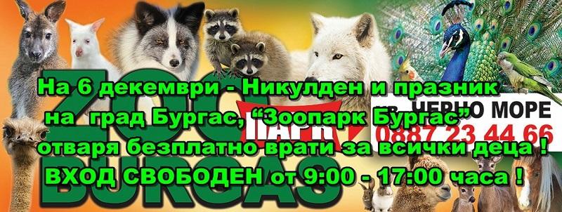 На Никулден: Вход свободен за най-малките посетители на бургаския зоопарк