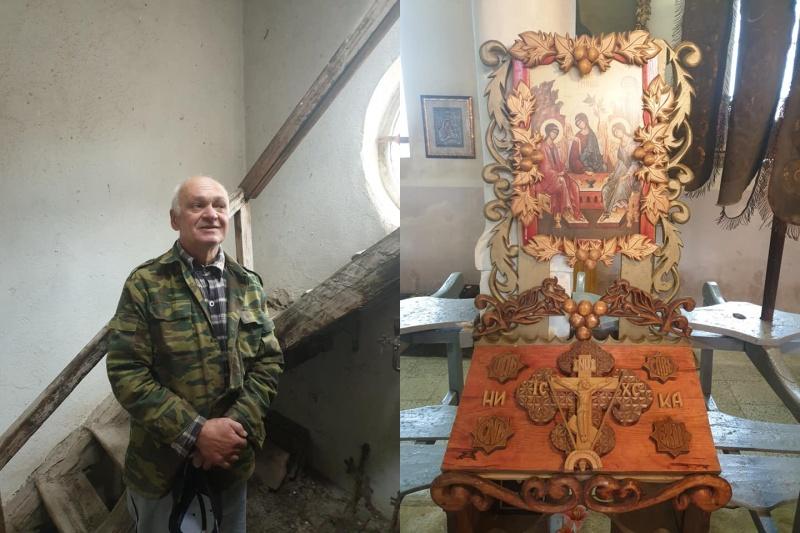 Руснак спасява от разруха храма в Зидарово, търси помощ