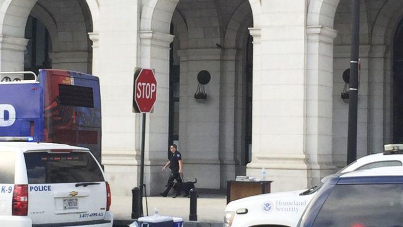 Евакуация на централната гара във Вашингтон