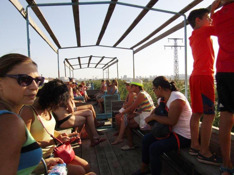 Канят на разходка с влакче за празника на Атанасовското езеро