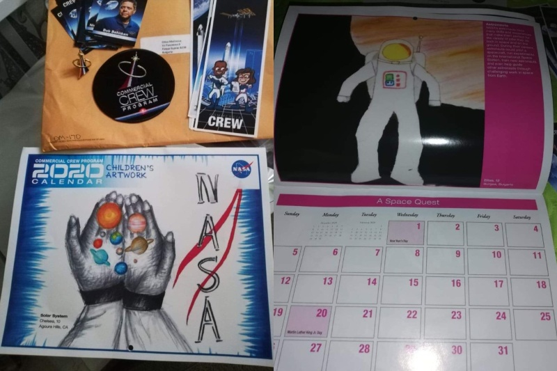 NASA избра рисунка на ученичка от Несебър за своя календар