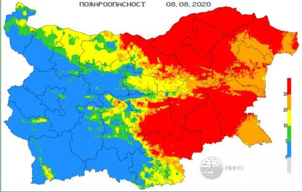Висок риск от пожари в Бургаско