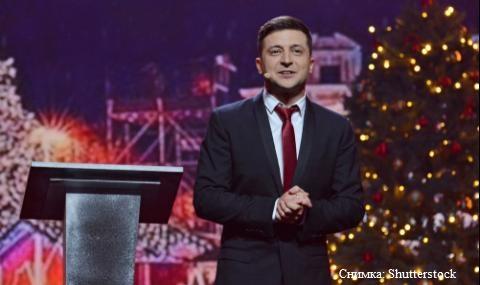 В Деня на шегата: Комик отива на балотаж на президентските избори в Украйна