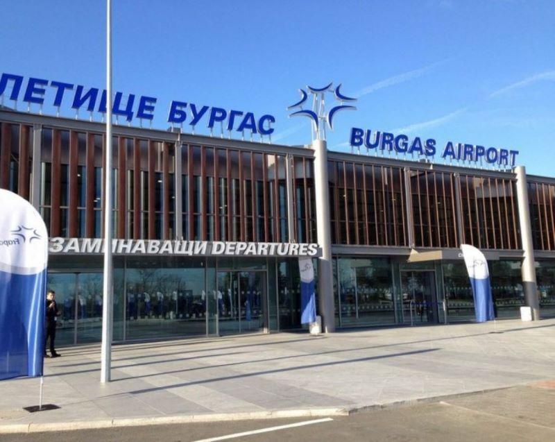 Летище  Бургас отчита рекорден спад на пътниците