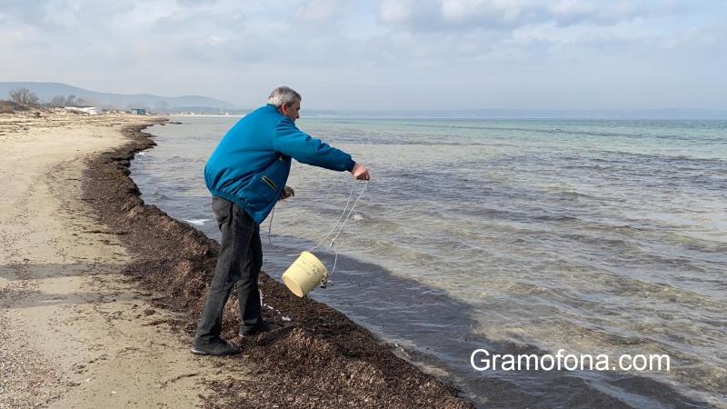 Екоинспектори проверяват има ли замърсяване в морето в Созопол (СНИМКИ)