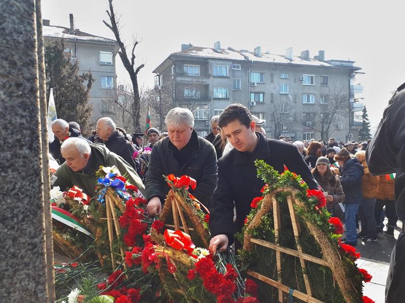 БСП - Бургас отбеляза 140-та годишнина от Освобождението на България