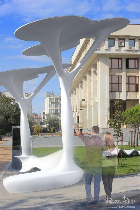 Слагат соларни дървета на Тройката и пред БСУ