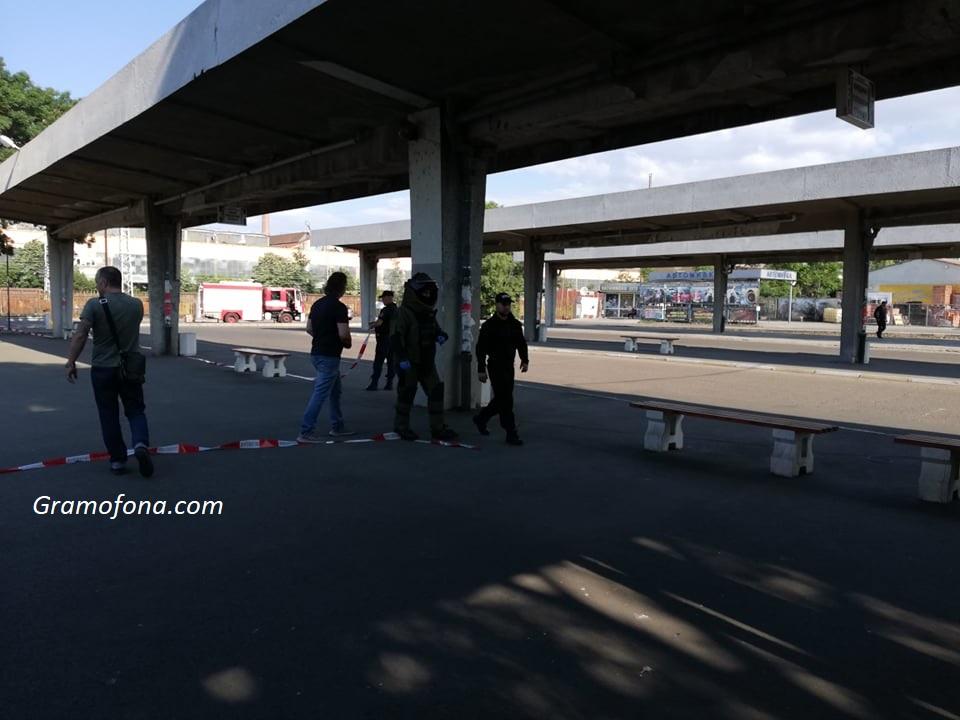 Заради фалшива тревога блокираха автогара Запад в Бургас