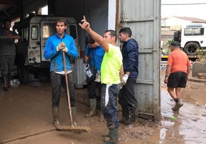 Рафаел Надал след бедствието в Майорка