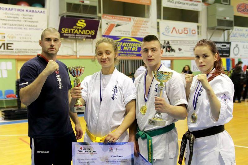 Каратеките от Приморско се завърнаха със злато и сребро от турнир в Гърция