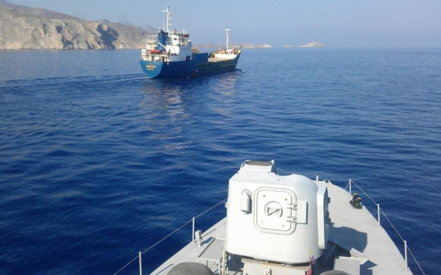 Кораб, тръгнал от Бургас е арестуван в Пирея с оръжие на борда