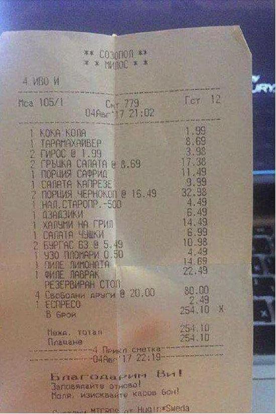 Незабавна проверка за такса стол, разпореди премиерът Борисов