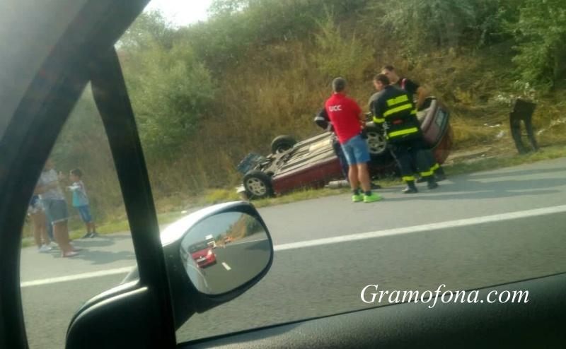 Катастрофа блокира пътя София - Бургас