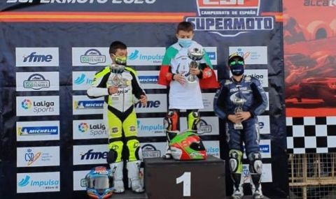 11-годишен българин стана шампион на Испания по Супер Мото