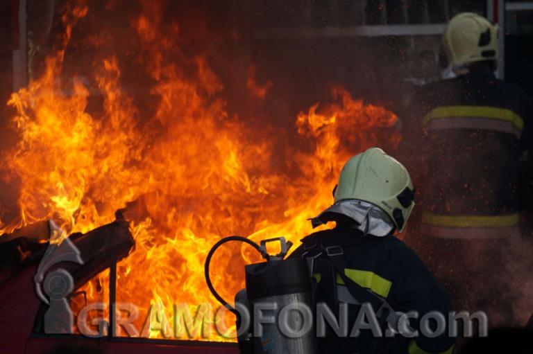 Пожар в Меден рудник, гори къща