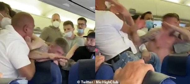 Бой в самолет до Ибиса заради пъници без маски