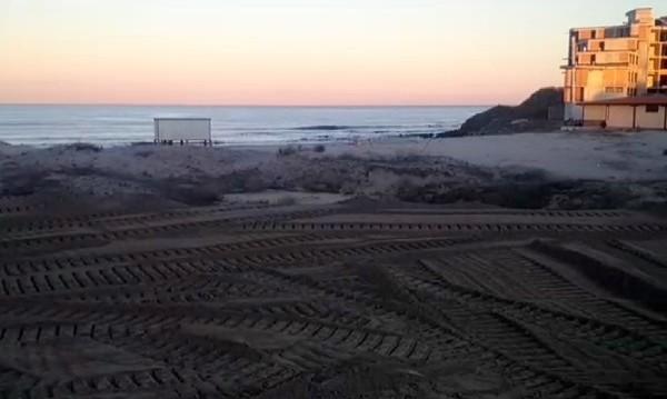 Екопроверка заради трактор на плажа