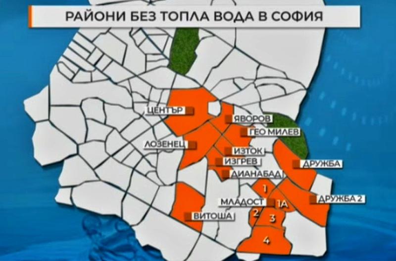 Почти половин София остава без топла вода в жегата