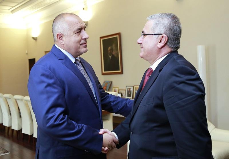 Премиерът Борисов се срещна с главния прокурор на Турция Мехмет Акарджа