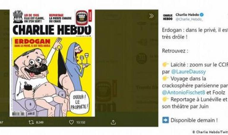 """""""Шaрли Eбдo"""" oкaрикaтури и ядоса турския президент"""