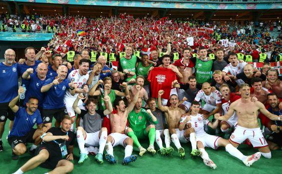 Дания допълни полуфиналите на Евро 2020
