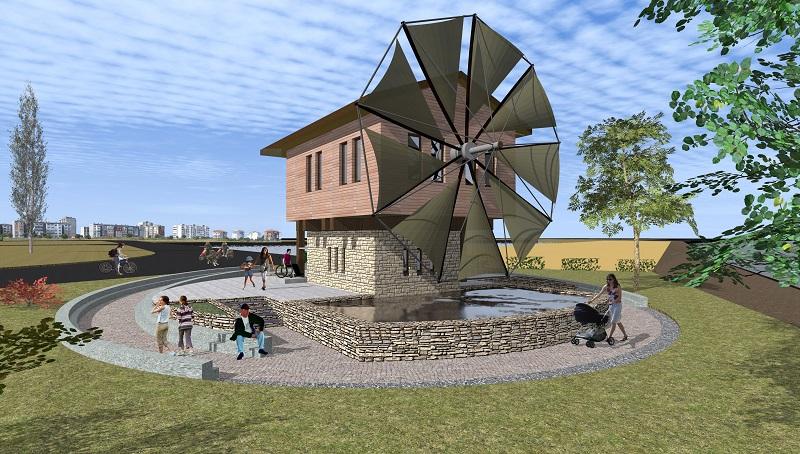 Вятърна мелница за сол в Поморие