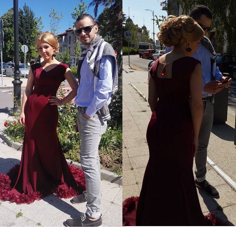 Джесика Стоева с рокля на LABARUM