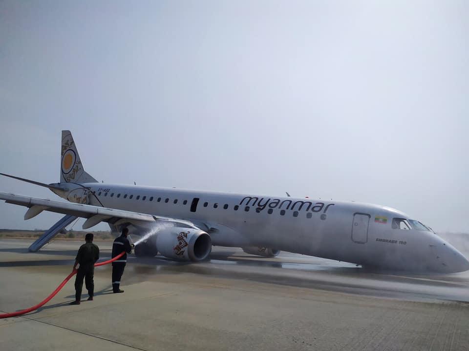 Брилянтна реакция на пилоти от Мианмар: Приземиха самолет на корем, всички пътници са невредими
