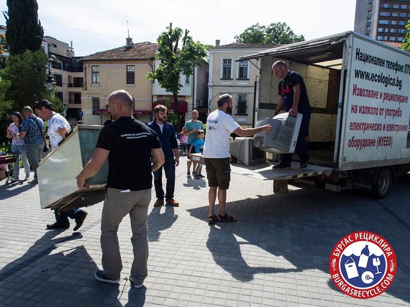 Близо половин тон електронни отпадъци са събрани в Бургас