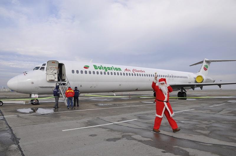 Дядо Коледа кацна на Летище Бургас