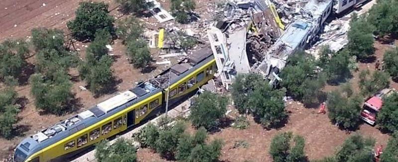 Жестока влакова катастрофа в Италия