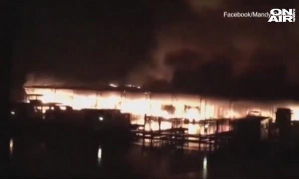 Пламна яхтено пристанище в САЩ, 8 загинаха